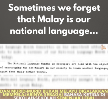 Sometimes we forget that Malay is our national language...