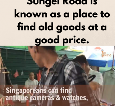 Sungei Road is known as a place to find old goods at a good price. (1)